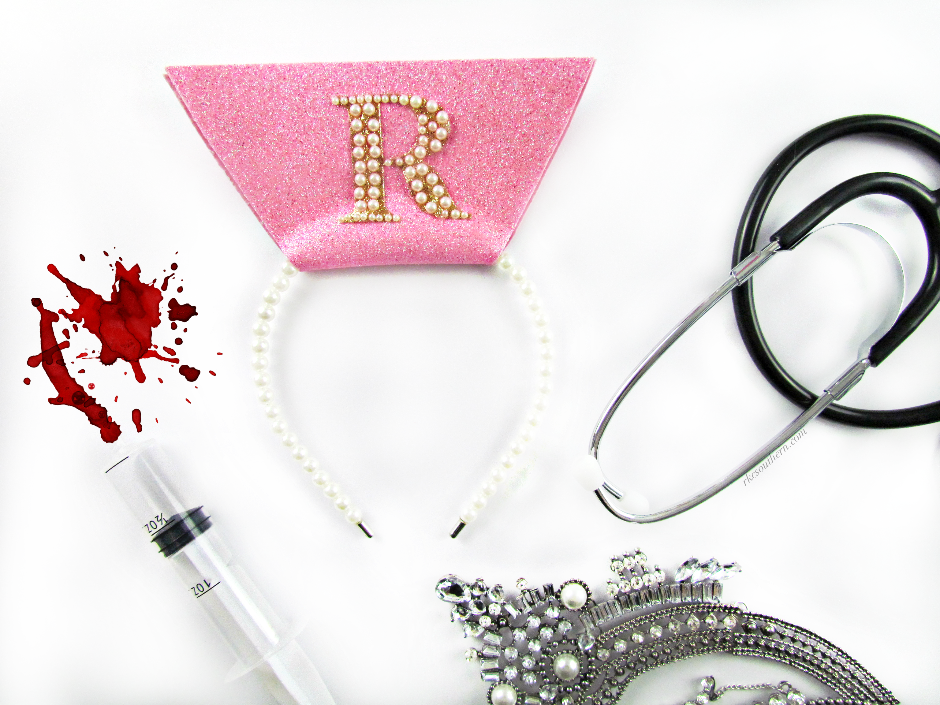 5ad8d7e4ce92c DIY Chanel Oberlin Scream Queens Hospital Nurse's Cap Tutorial ...