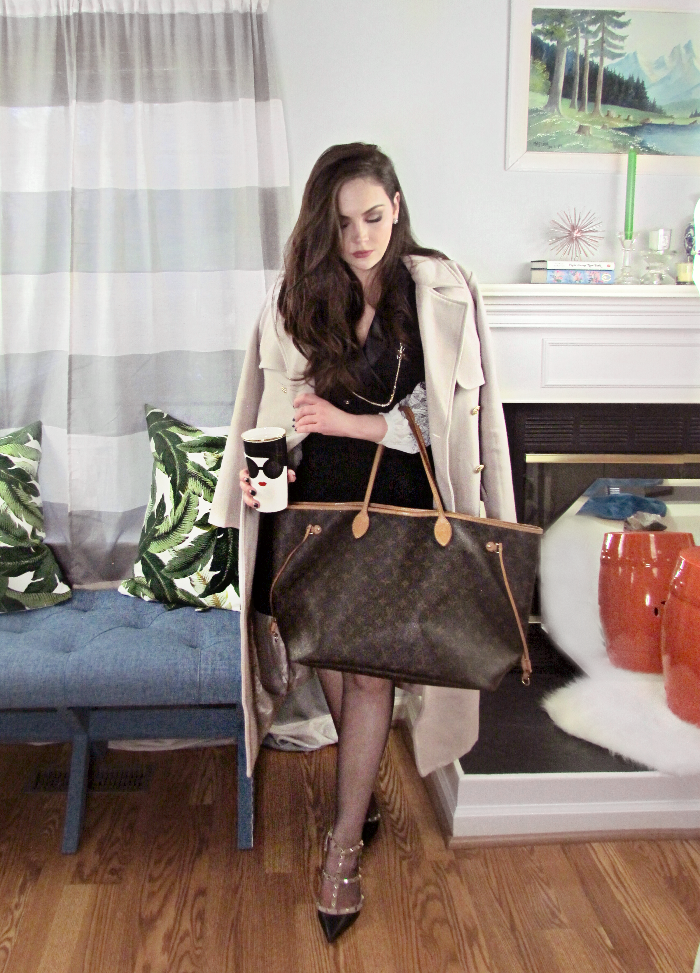5858f7219 Bag, Louis Vuitton Neverfull: Tradesy (2016), Shoes, Valentino Rockstuds:  Friends & Family score (2016)