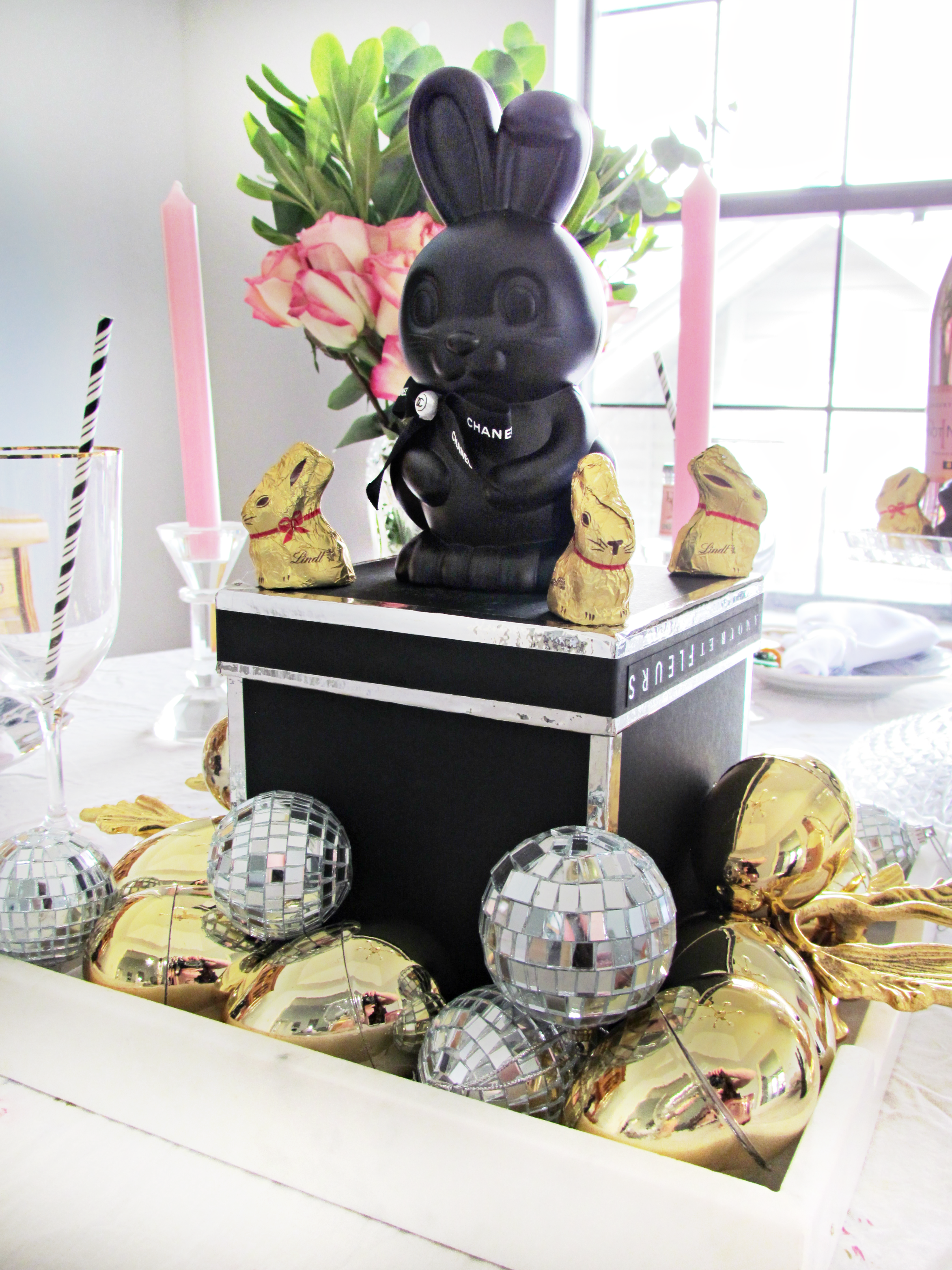 Cocoa Couture Easter Table Scape