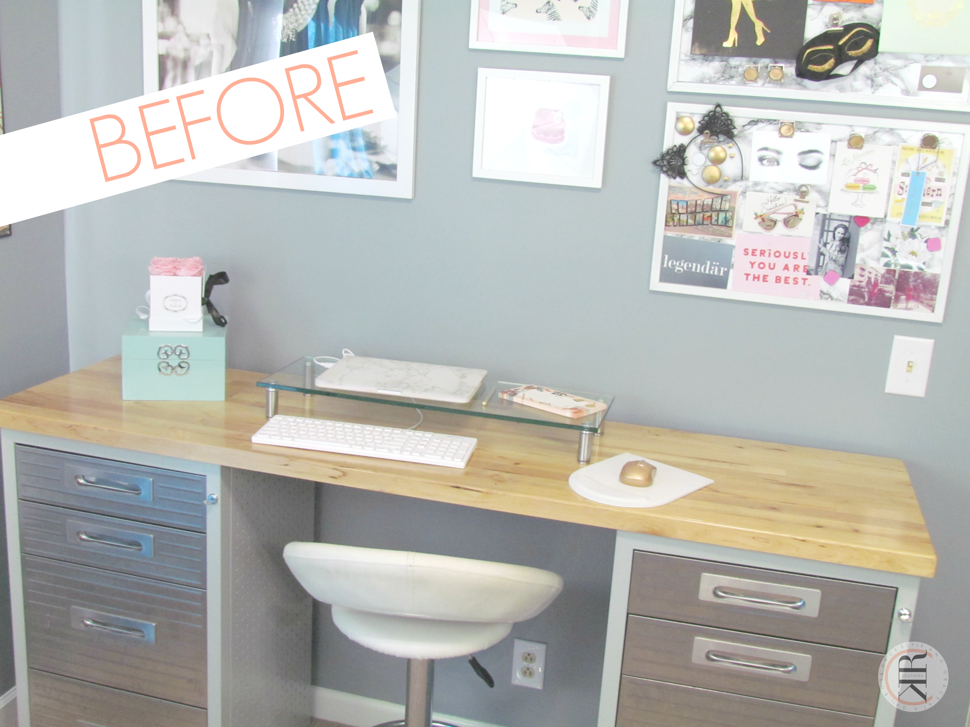 DIY Marble Desk Top Tutorial